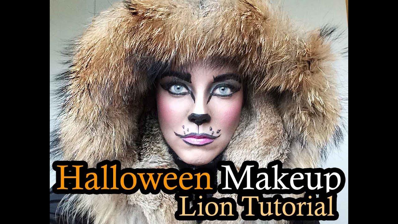 lion halloween makeup tutorial for beginners - Halloween Makeup For Beginners