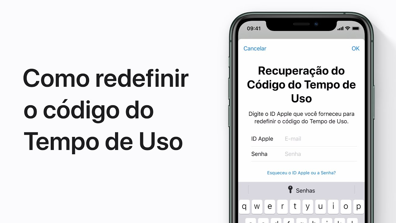 Como redefinir o código do Tempo de Uso no iPhone, iPad e iPod touch — Suporte da Apple