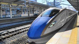 〔4K UHD//sp〕JR東日本・上越新幹線:高崎駅、E7系『とき号』入線シーン。