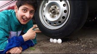 3 HUEVOS VS UN CARRO ¿Que tan fuerte es un huevo?