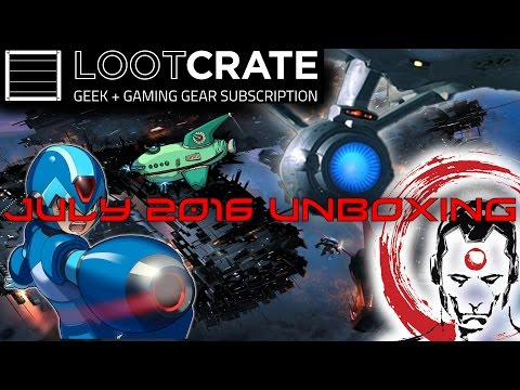 LootCrate July 2016 Unboxing Theme Futuristic