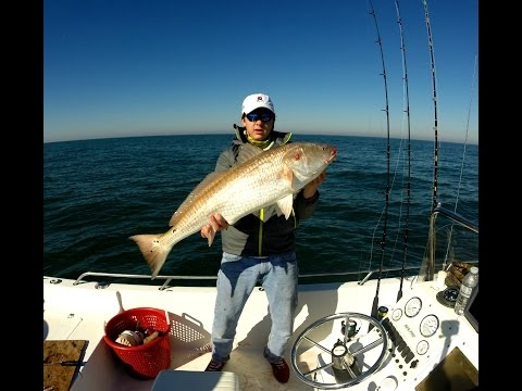 Monster Offshore Redfish caught on Swimbaits-GoPro