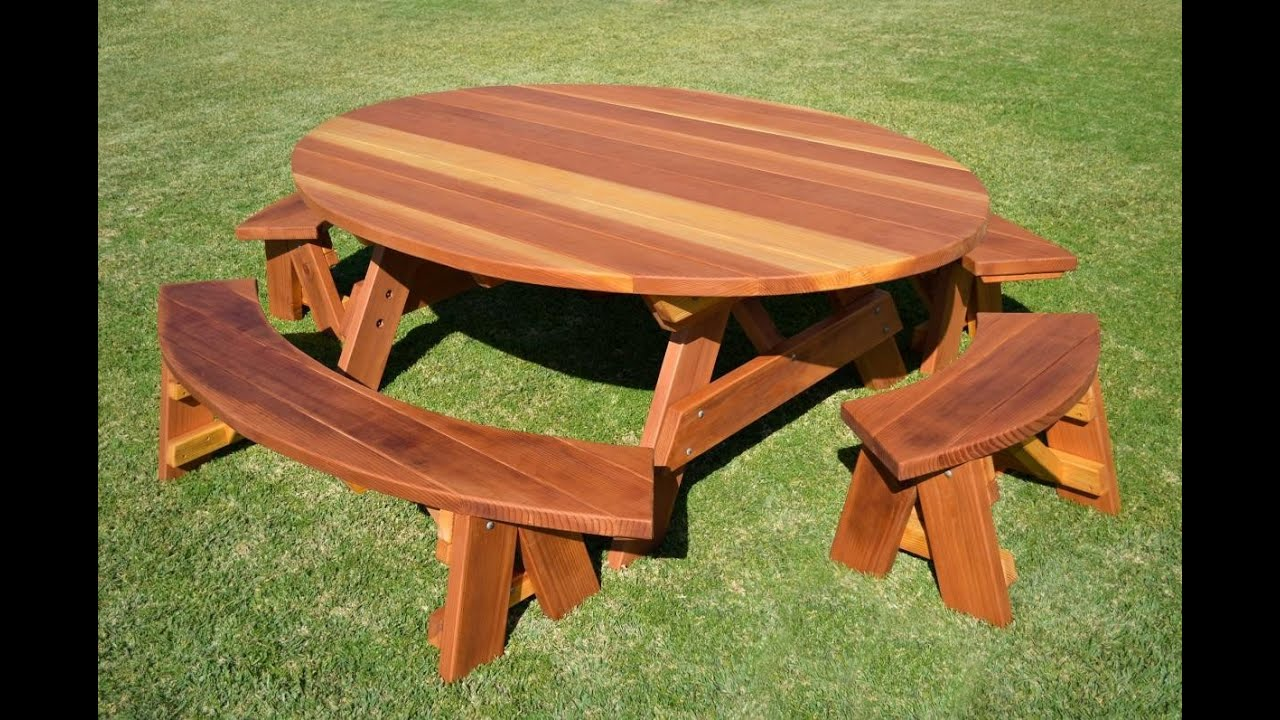 Wood Picnic Table | Wooden Picnic Table   YouTube