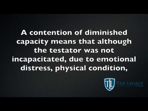 Our Legal Dictionary: Diminished Capacity