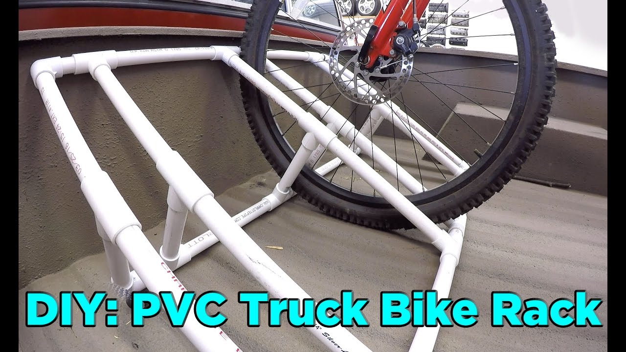 How To Build A Pvc Truck Bed Bike Rack For 25 Youtube