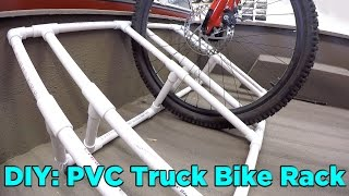 how to build a pvc truck bed bike rack for 25