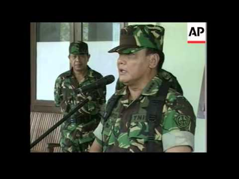 Indonesian troops carry out anti-rebel actions