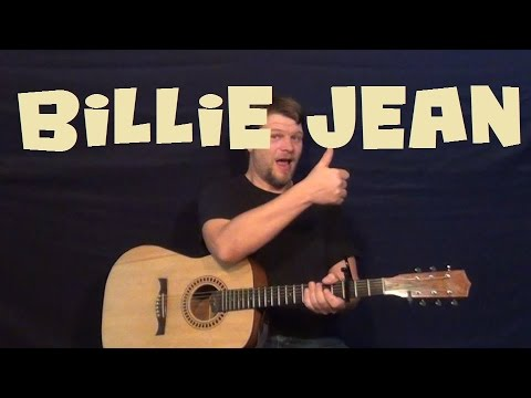 Billie Jean (Michael Jackson) Easy Guitar Lesson How To Play Tutorial