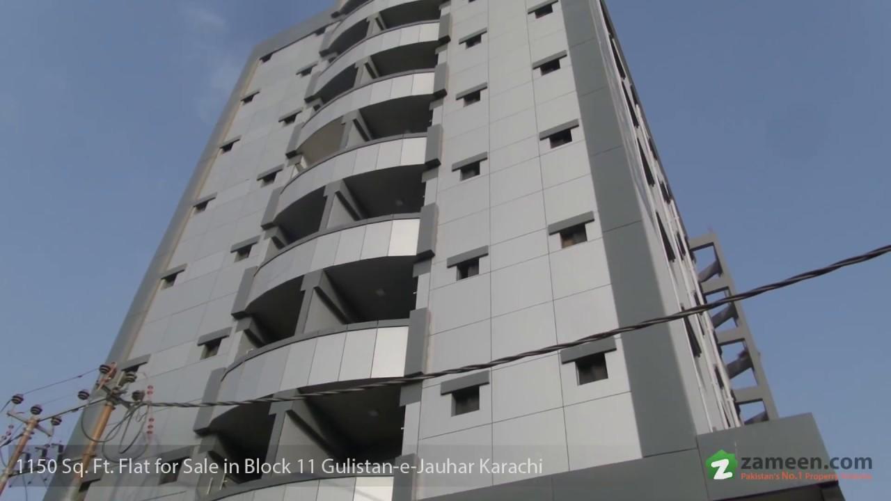 FLAT IS AVAILABLE FOR SALE GULISTAN E JAUHAR BLOCK 11 KARACHI
