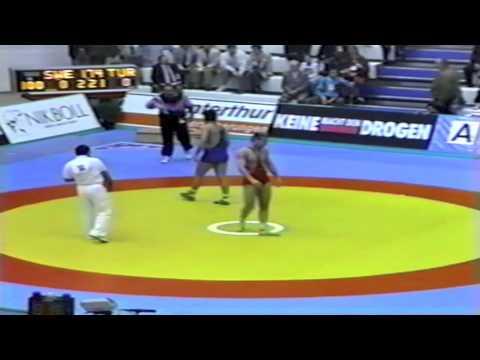 1991 Senior European Greco Championships: 100 kg Sweden vs. Celal Inceler (TUR)