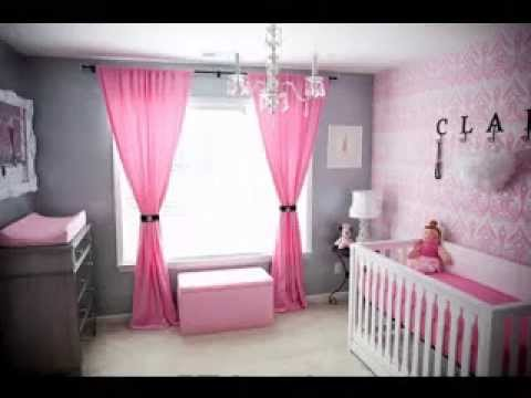 Curtains In The Nursery For Girls DIY Little Girls Room Decor Ideas YouTube