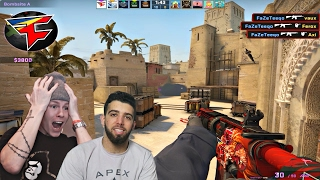 FaZe Teeqo 35 KILLS FULL CS:GO GAMEPLAY w/ FaZe Apex