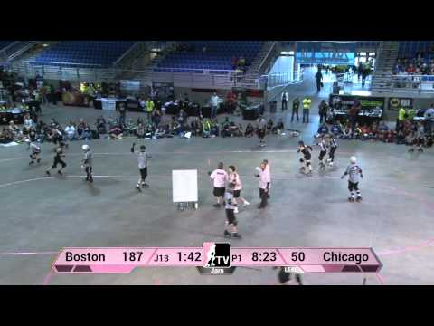 The Chicago Outfit v Boston Derby Dames: 2013 WFTDA D1 Playoffs in Salem