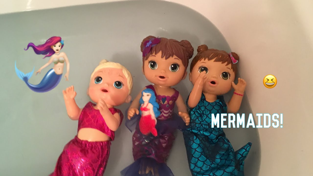 Baby Alive Dolls Are Mermaids Youtube