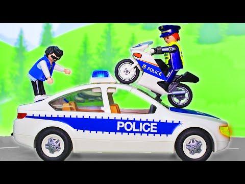 Мультики про машинки для мальчиков – Мультфильмы про полицию с игрушками ПЛЕЙМОБИЛ – Видео для детей