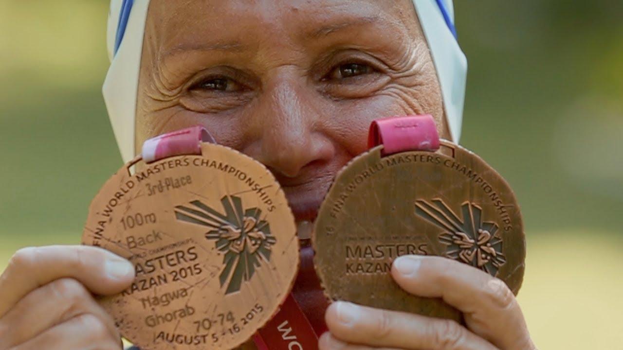 BBC عربية:رسالة من تحت الماء لبطلة سباحة مصرية في العقد الثامن من العمر   بي بي سي إكسترا