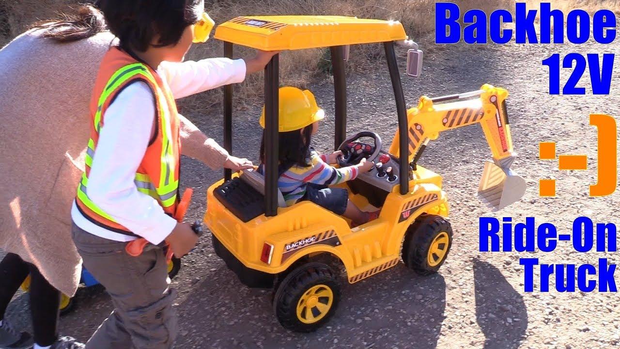 Children's Construction Truck Ride-On Toy. Power Wheels ...