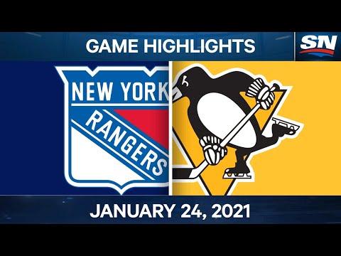 NHL Game Highlights | Rangers vs. Penguins - Jan. 24, 2021