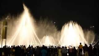 The Dubai fountain, Baba Yetu 2013