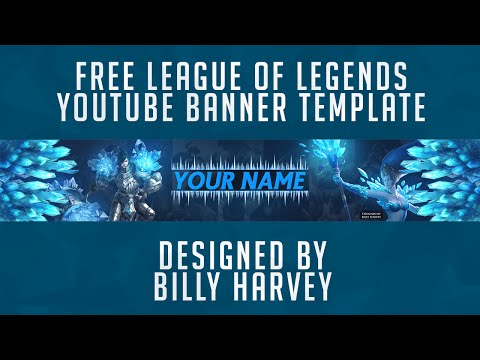 Free Youtube Banner Template 2D LOL League Of Legends / PSD