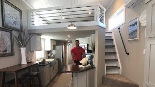 New Loft Design! Monoslope Roof Tiny Home With Awesome Bedroom