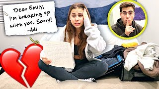 Leaving My Girlfriend With ONLY A Goodbye Letter.. (Bad Idea)