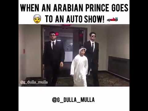 When an Arab prince go to a car show