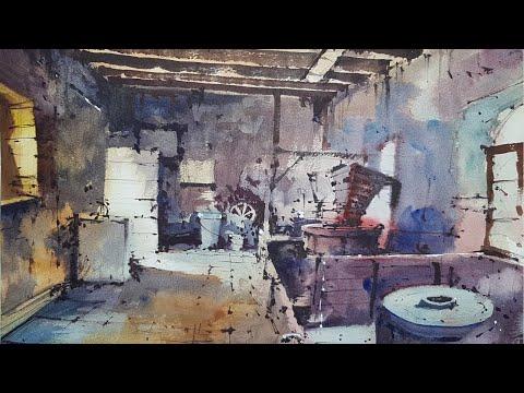 ADVANCED WATERCOLOR TUTORIAL - A difficult interior scene?