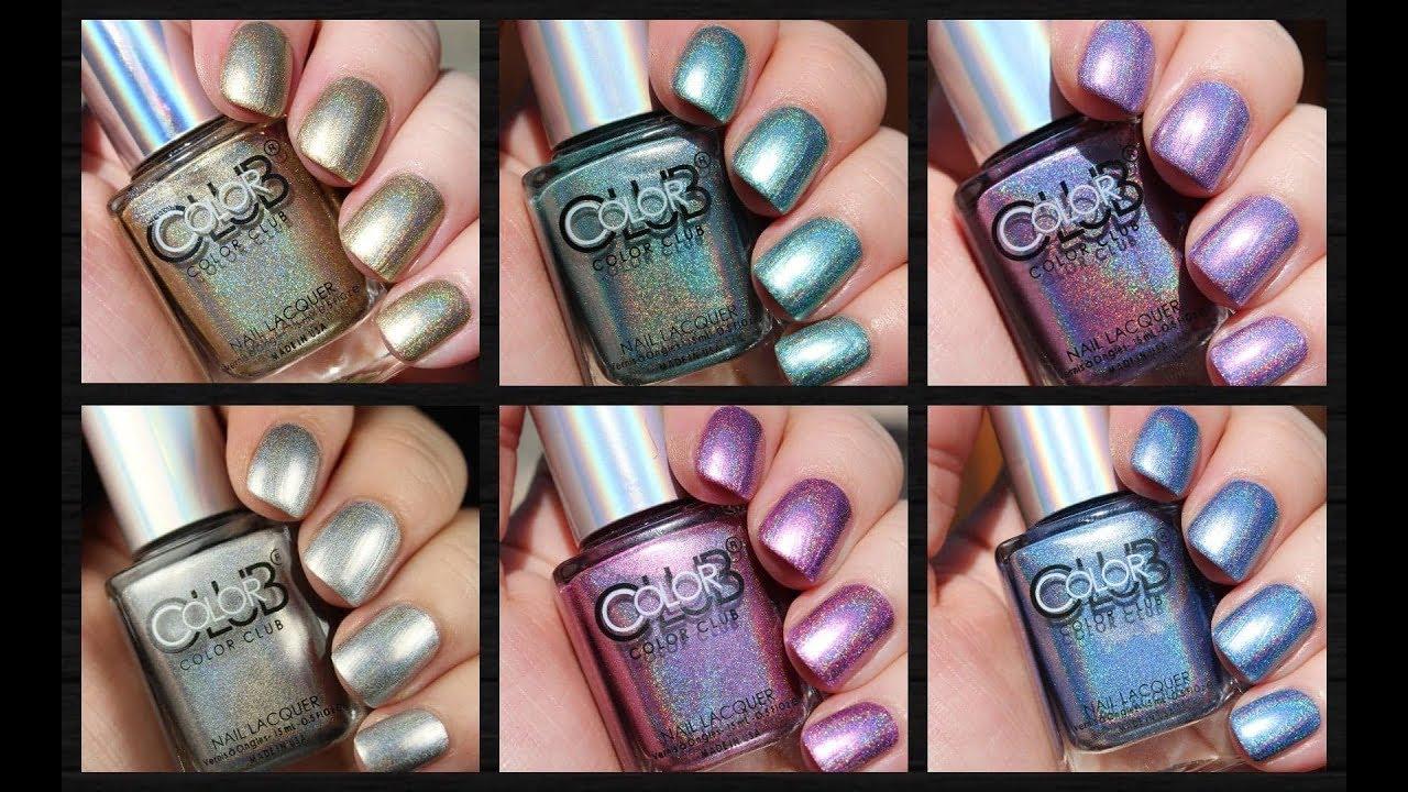 Color Club Halo Chrome | Holographic Nail Polish | Live Application ...