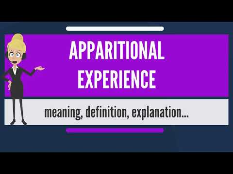 What is APPARITIONAL EXPERIENCE? What does APPARITIONAL EXPERIENCE mean?