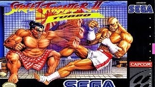 Street Fighter 2 TURBO [BETA] - SEGA MEGADRIVE (Genesis) - RYU Longplay (FULL GAMEPLAY)