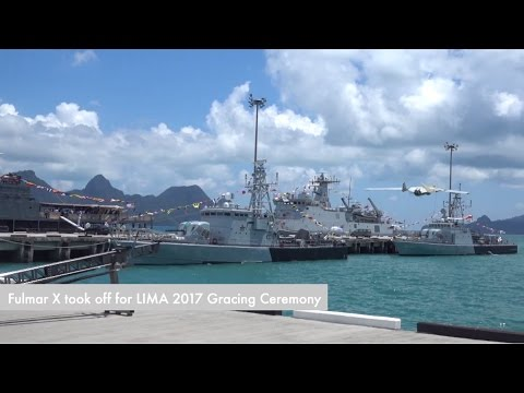 Thales Fulmar UAV equipped on MMEA's New Generation Patrol Crafts flying during LIMA 2017