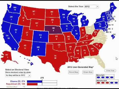 obama vs romney electoral college 2 0 updated youtube