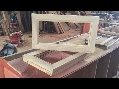 Woodworking Skills Extremely Crazy And Art - Make A Wooden Picture Frame, How To, DIY