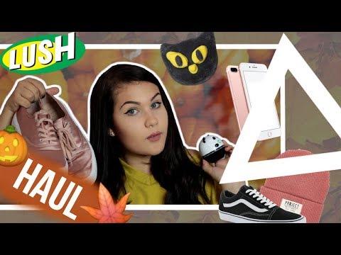 Podzimní Haul - halloweenská lush kolekce, nový mobil a tuna oblečení | Denny Canton