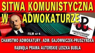 Chamstwo w adwokaturze, adw. Katarzyna Gajowniczek-Pruszyńska rąbnęła prawa autorskie Leszka Bubla