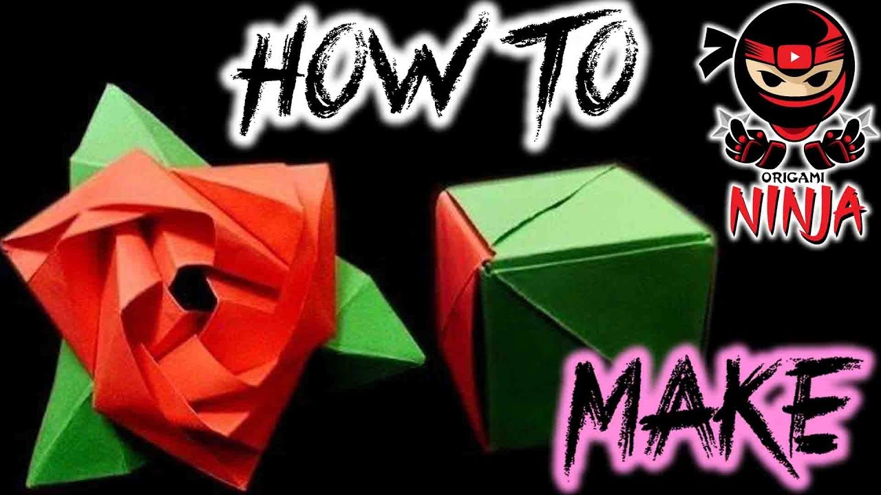 How To Make An Origami Magic Rose Cube || Diy Origami Rose Cube ... | 720x1280