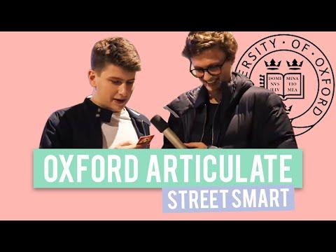 Oxford University Plays Articulate   StreetSmart
