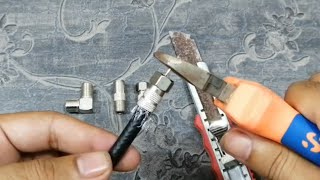 Cable connector installation / Cable connector fitting