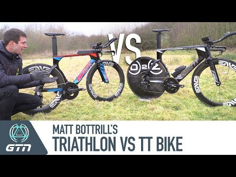 Triathlon Vs. TT Bike | Matt Bottrill's Giant Trinity Bike Setups