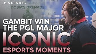 ICONIC Esports Moments: Dosia's Grenade | Gambit Win the PGL Major (CS:GO)