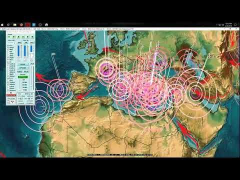 "2/24/2018 -- West Coast San Francisco, CA Earthquake swarm -- New volcano ""Semeru"" in Indonesia - 동영상"