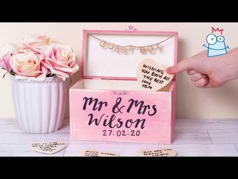 How to make a Wooden Heart Guest Box | Wedding Crafts | DIY Wedding