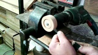 A short video showing you how to make wheels for wooden toys without the need of fancy tools.