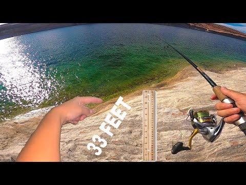 Bank Fishing ROCK CLIFFS- Lake Powell (day 2)