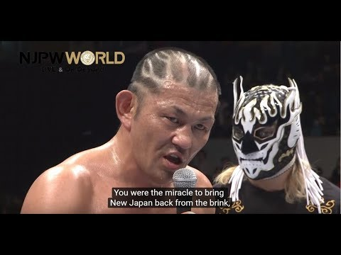Minoru Suzuki's menacing post match address [English subs]