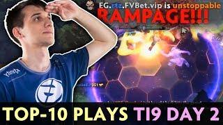 TOP-10 BEST PLAYS of The International 2019 — Day 2 Group Stage