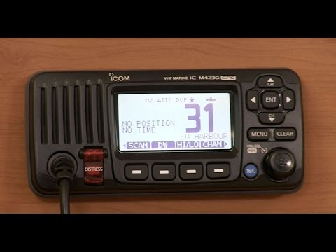 What is ATIS and how to enable it on an ICOM marine radio?