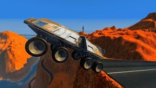 Low Gravity Grand Canyon Jumps - BeamNG.Drive