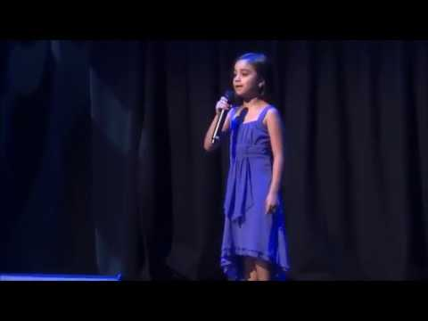 7 year old girl singing The Australian National Anthem